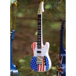 American Flag Miniature Guitar Ornament