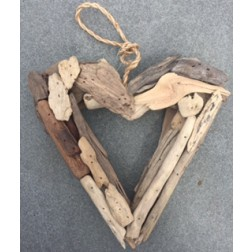 Open Heart Driftwood Wall Decor