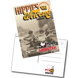 Woodstock 50th Anniversary Hippies Welome Postcard