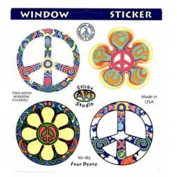 Assorted Peace Symbols Sticker