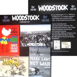 Set of 4 Woodstock Magnets