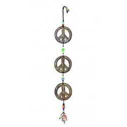 3 Peace Sign Windchimes