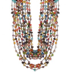 MOSAIC BEADED NECKLACE 8 STRAND