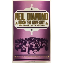 Neil Diamond  2017 - Collectible Hatch Show Print