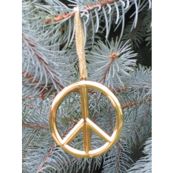 Gold Peace Ornament