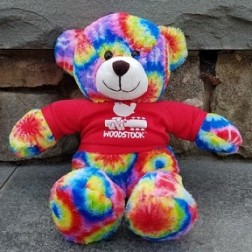 Tye Dye Woodstock Teddy Bear