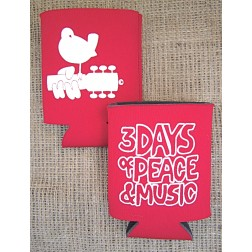 Official Woodstock Bird on Guitar Koozie