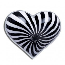 Groovy Black and White Heart dish  with Little Spoon