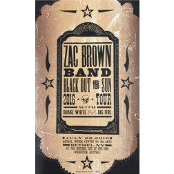 Zac Brown Band - Collectible Hatch Show Print