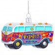 Woodstock Glass Bus Ornament