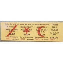 Replica Woodstock 3 Day Ticket Magnet