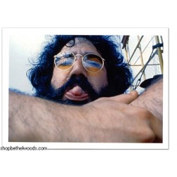 Jerry Garcia Tongue: Postcard: Fine Art Musician