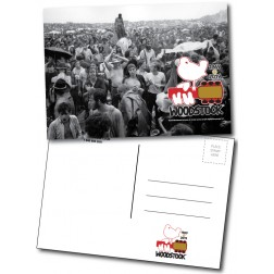 Woodstock 50th Anniversary Postcard Crowd Scene