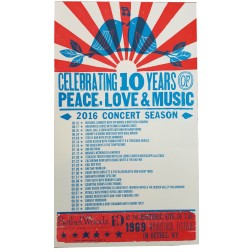 Bethel Woods 10th Anniversary - Collectible Hatch Show Print