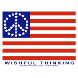 Wishful Thinking Peace Flag Sticker