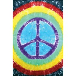 Rainbow Tie Dye Peace Sign Tapestry