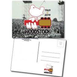 Woodstock 50th Anniversary Postcard Stage Scene