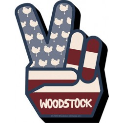 Funky Flag Woodstock  Peace Hand Magnet